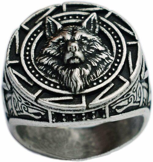 Alpha Leadership Silver Wolf Ring