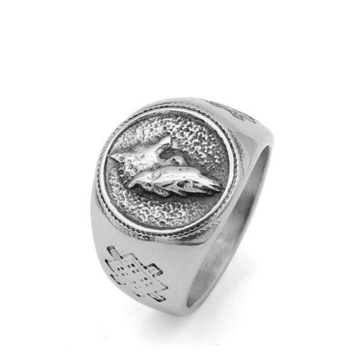 Alpha Signet Wolf Ring