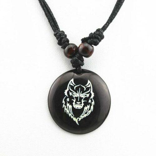 Amulet Wolf Necklace