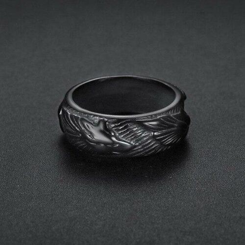 Black Elite Wolf Ring