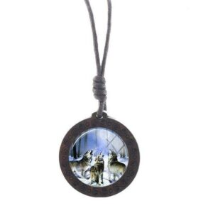 Charm Bothers Wolf Necklace