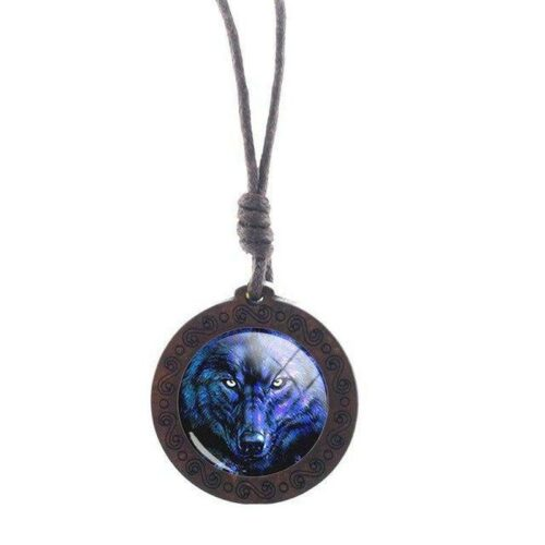 Charm Eyes On You Wolf Necklace