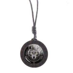 Charm King Wolf Necklace