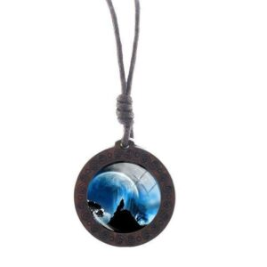 Charm Moon Wolf Necklace