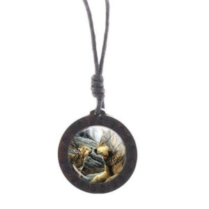Charm Mother Wolf Necklace
