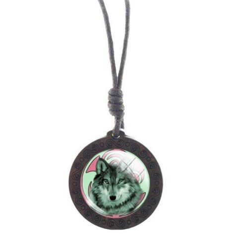 Charm Native Wolf Necklace