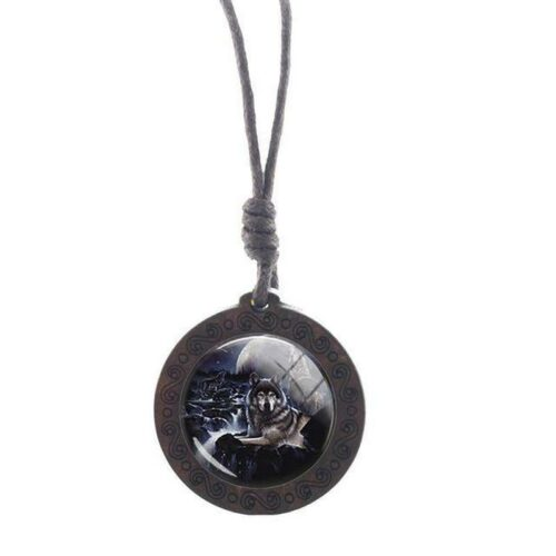 Charm The Watcher Wolf Necklace