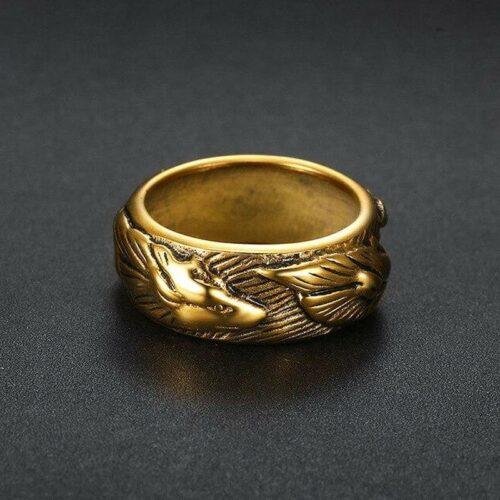Gold Elite Wolf Ring