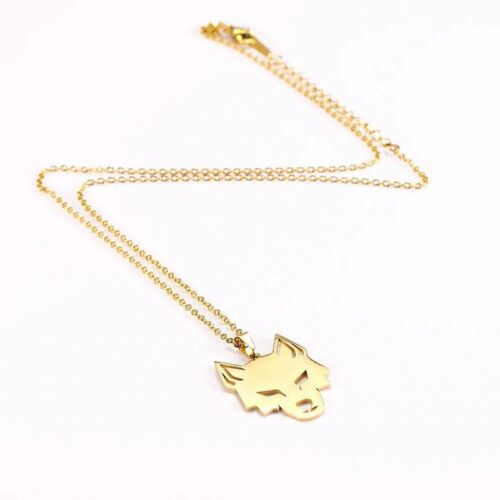 Gold Focus Wolf Necklace