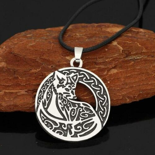 Nordic Silver Wolf Necklace
