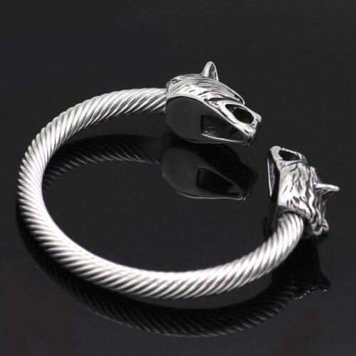 Silver Hati Wolf Bracelet