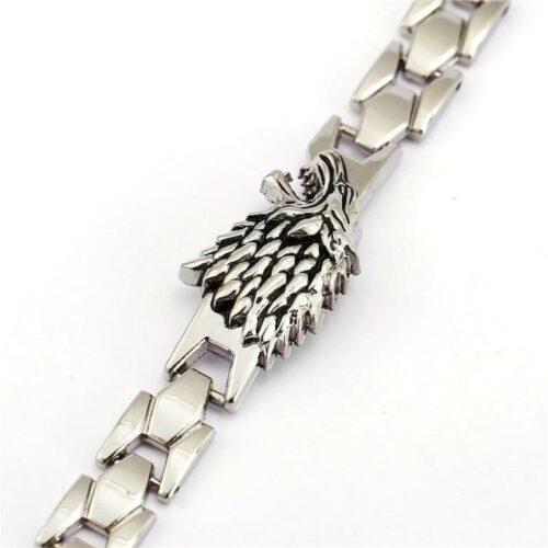 Silver Stark Wolf Bracelet