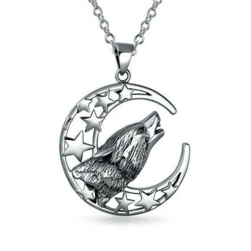 Stargazer Lone Wolf Necklace