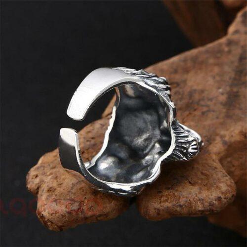 Sterling Silver Werewolf Ring
