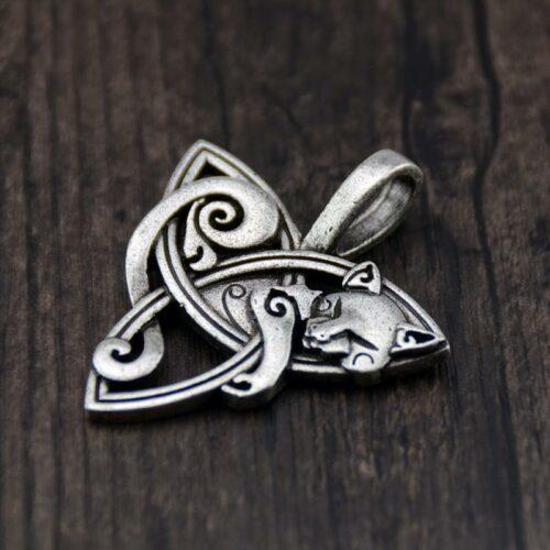 Triquetra Spirit Wolf Necklace