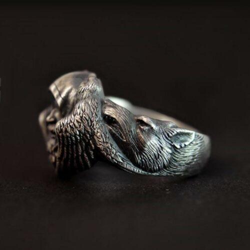 Viking Priest Wolf Ring