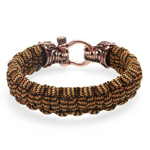 Woven Rope Wolf Bracelet