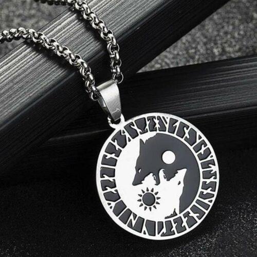 Yin Yang Wolf Necklace