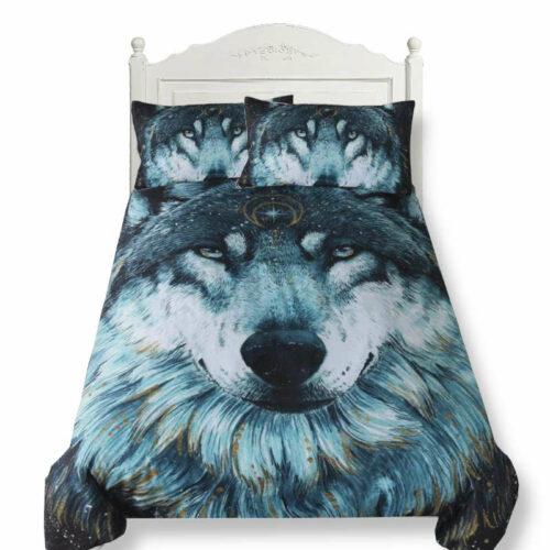 wolf duvet cover grey wolf head