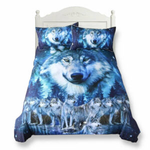 Duvet cover wolf blue night pack