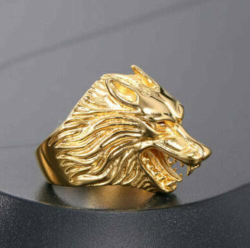 golden wolf ring
