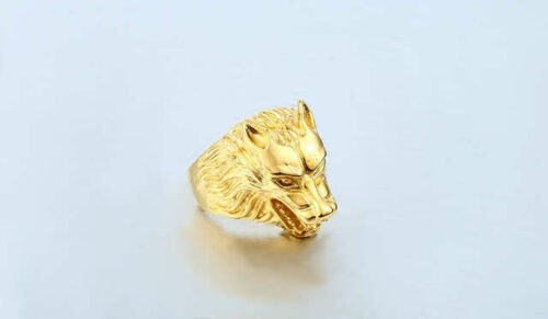 Wolf Ring <br>Gold Wolf photo review