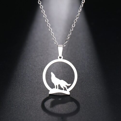 howling wolf on the hill steel
