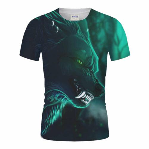 Wolf t-shirt fenrir green