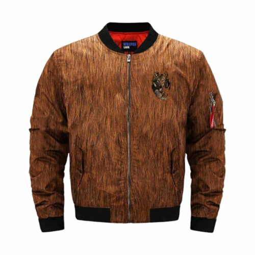 wolf bomber jacket brow with wolf claw effect
