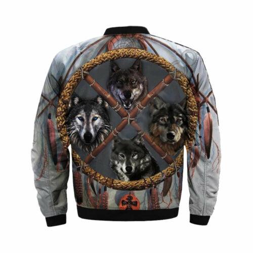 wolf bomber jacket distrikt back