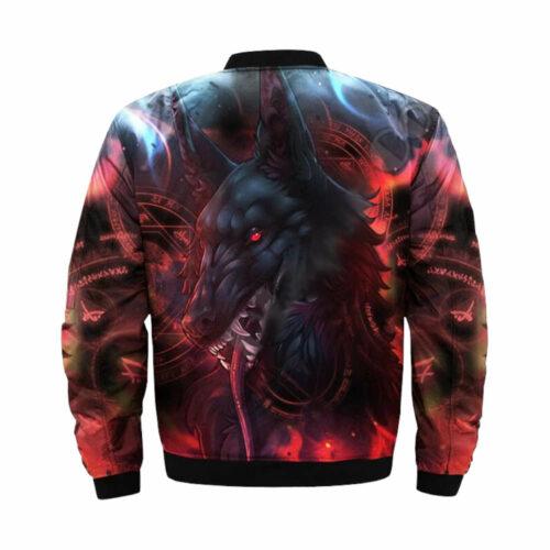 wolf bomber jacket fenrir back