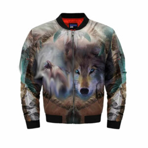 wolf bomber jacket spirit
