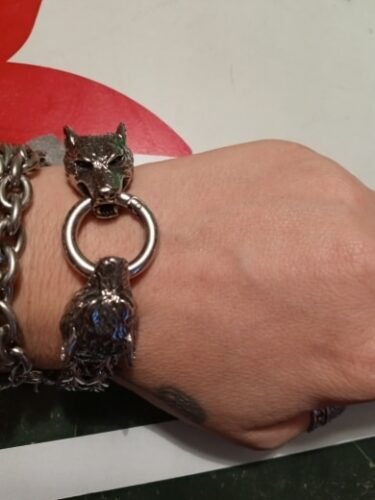 Wolf Bracelet <br>Braided Steel photo review