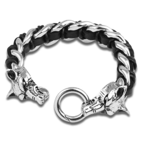 Bracelet Wolf Fraternal Link (Steel)