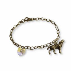 Wolf Bracelet Wolf and heart twilight bella