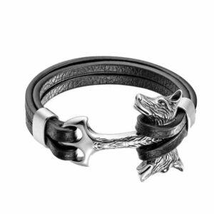 wolf bracelet two headed axe