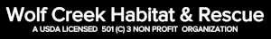 wolf creek habitat and rescue logo
