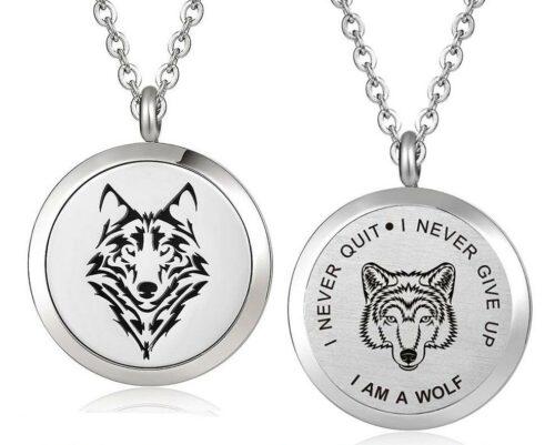 Wolf necklace i am a wolf aromatherapy