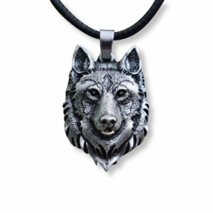 Wise Wolf head Necklace