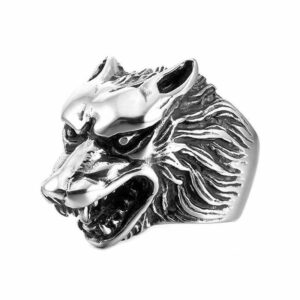 Wolf Ring Angry Wolf