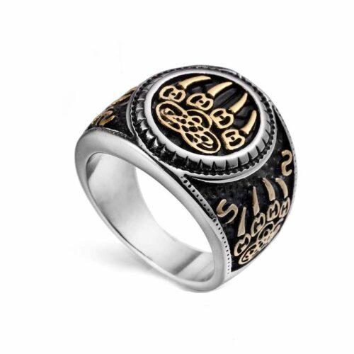 Wolf Ring Gold Claw Signet