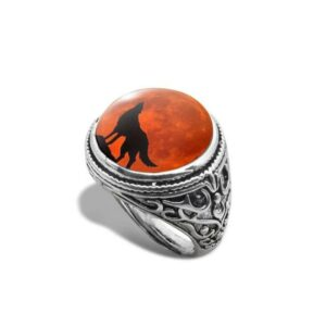 wolf ring red moon signet