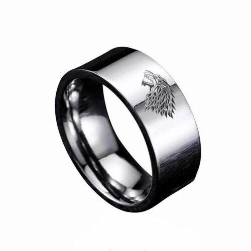 Wolf Ring Stark House Direwolf