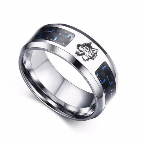 Wolf ring steel and carbon