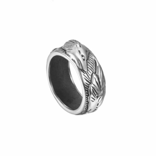 wolf ring lone wolf silver