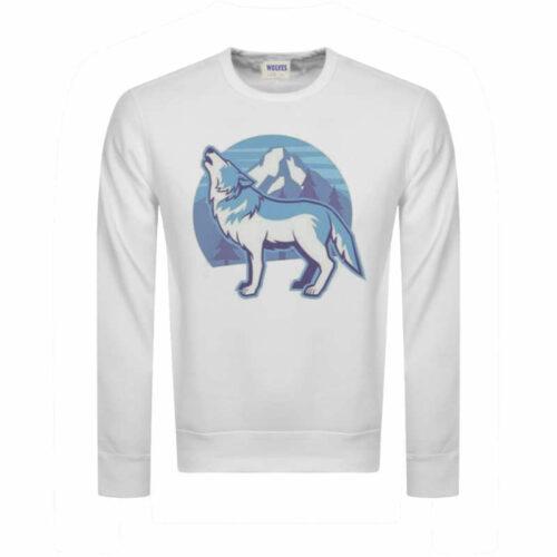 Arctic Wolf Sweatshirt white